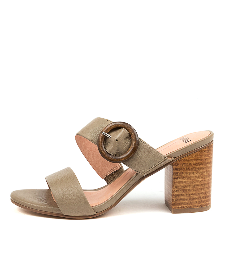 Buy Mollini Ashell Mo Khaki Heeled Sandals online with free shipping