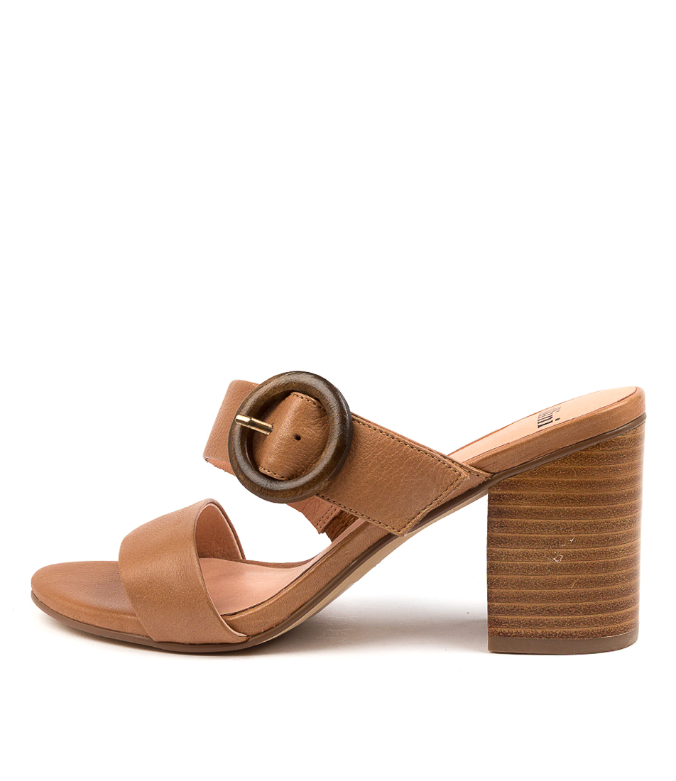 Buy Mollini Ashell Mo Dk Tan Heeled Sandals online with free shipping