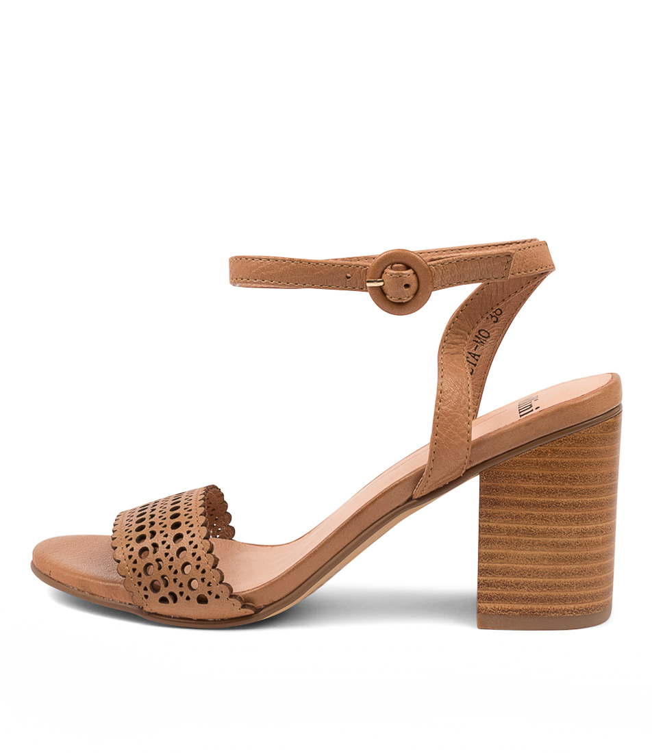Buy Mollini Aneta Mo Dk Tan Heeled Sandals online with free shipping