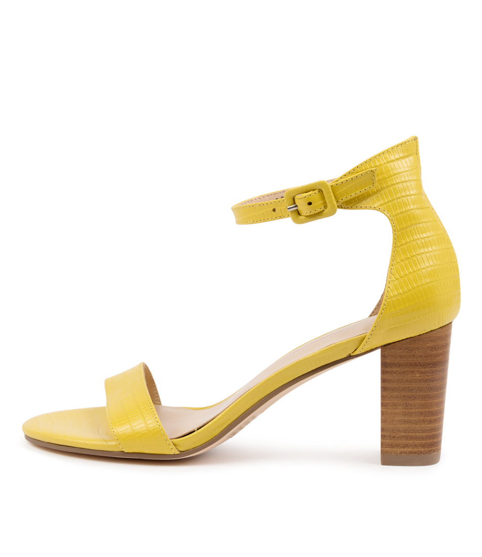 Buy Mollini Geremy Mo Yellow Natural Heeled Sandals online with free shipping