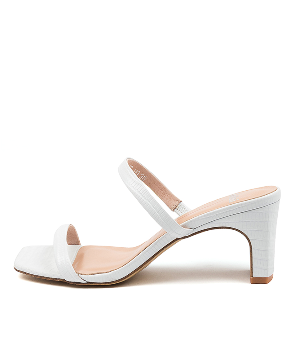Buy Mollini Hailed Mo White Heeled Sandals online with free shipping