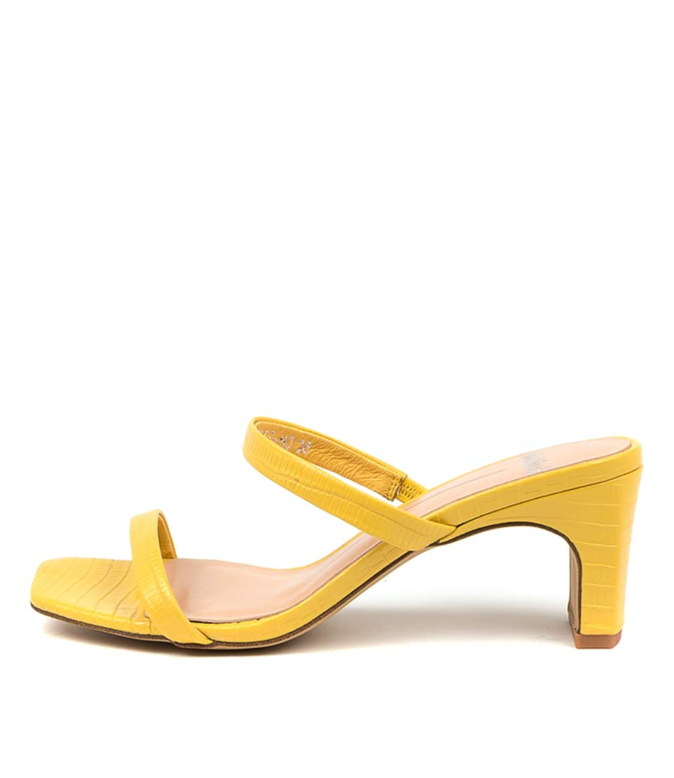 Buy Mollini Hailed Mo Yellow Heeled Sandals online with free shipping