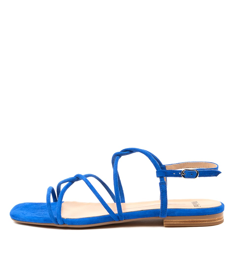 Buy Mollini Amare Mo Cobalt Flat Sandals online with free shipping