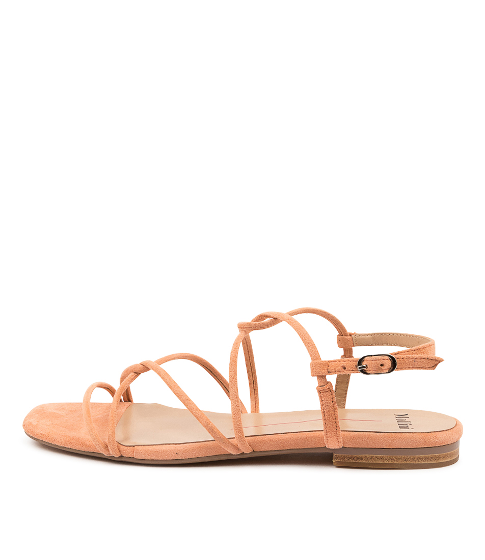 Buy Mollini Amare Mo Peach Flat Sandals online with free shipping
