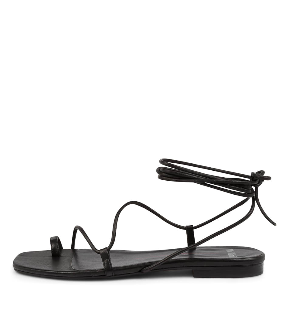 Buy Mollini Arluv Mo Black Flat Sandals online with free shipping