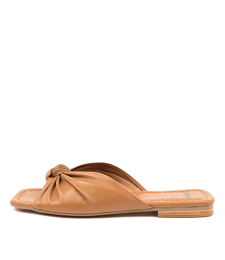 Buy Mollini Bethanie Mo Dk Tan Flat Sandals online with free shipping