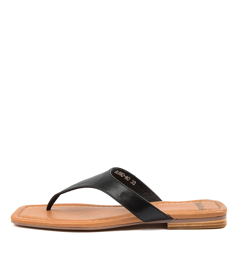 Buy Mollini Blund Mo Black Tan Flat Sandals online with free shipping
