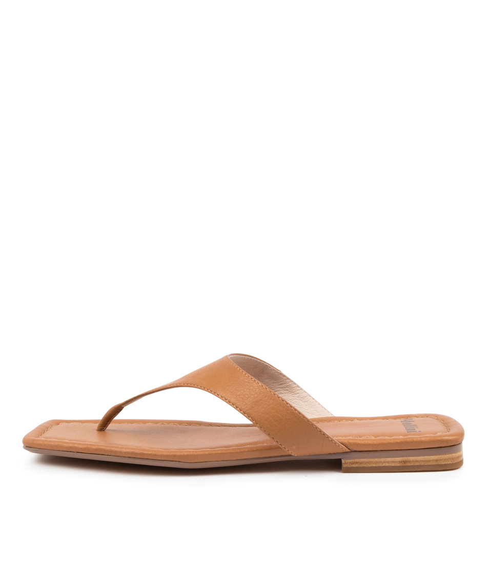 Buy Mollini Blund Mo Dk Tan Flat Sandals online with free shipping