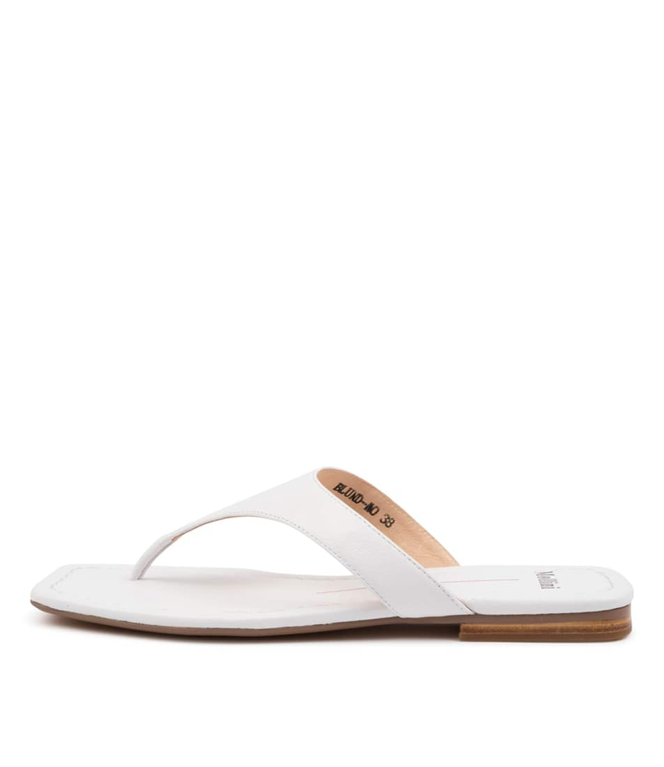 Buy Mollini Blund Mo White Flat Sandals online with free shipping