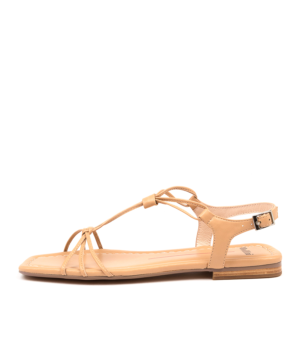 Buy Mollini Bonte Mo Nude Flat Sandals online with free shipping