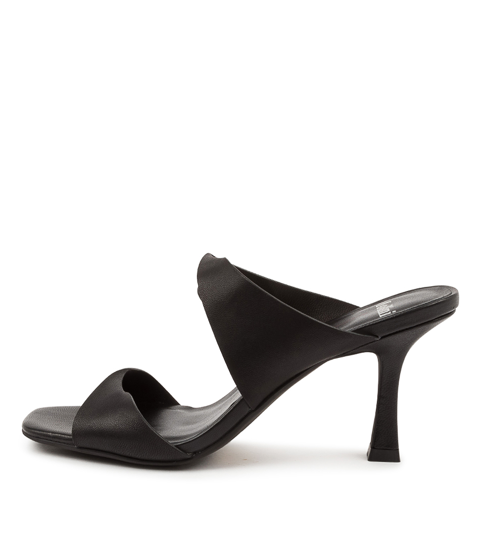 Buy Mollini Bahni Mo Black White Heeled Sandals online with free shipping