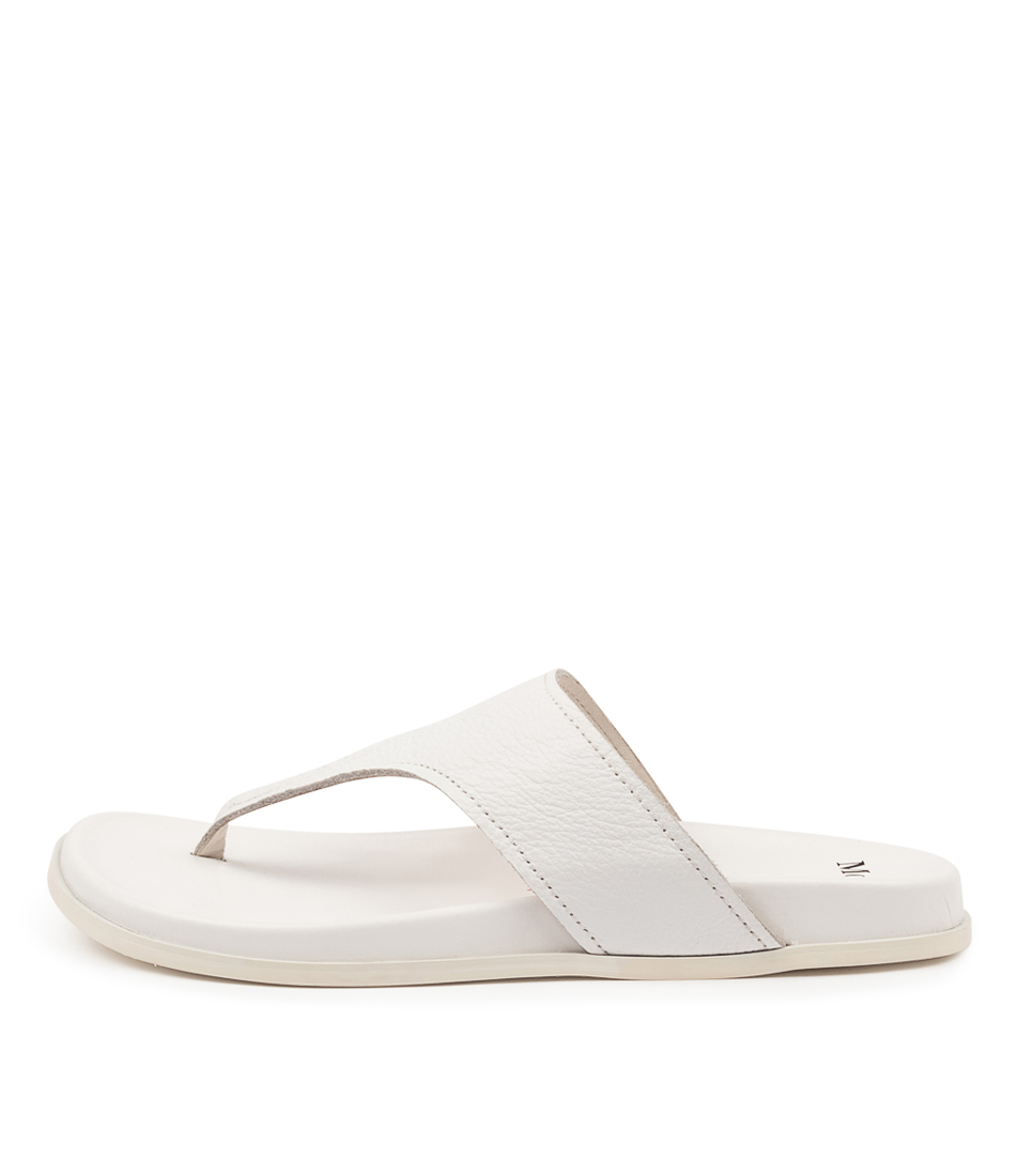 Buy Mollini Hugh Mo White White Sole Flat Sandals online with free shipping