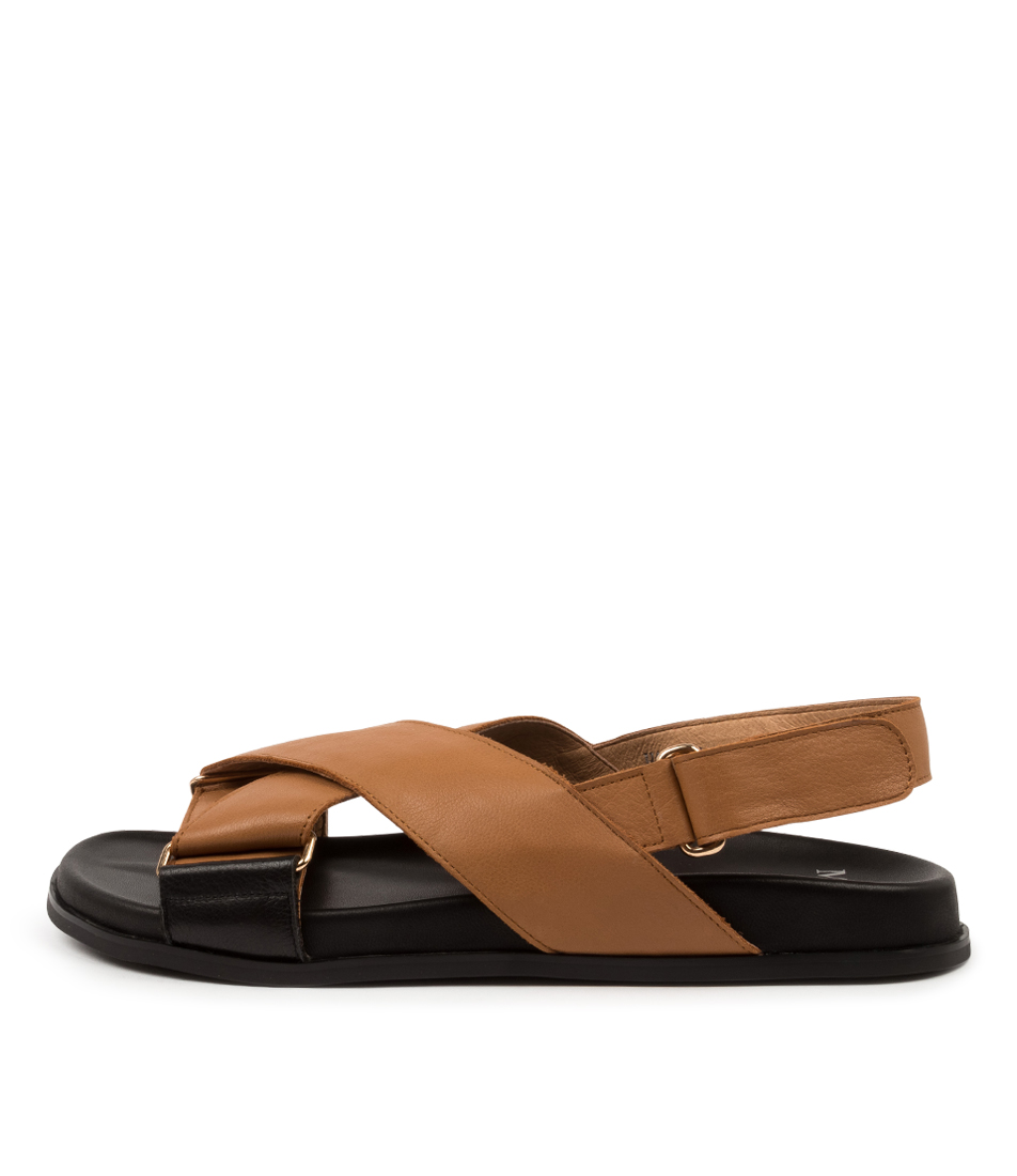 Buy Mollini Haylow Mo Black Tan Black Flat Sandals online with free shipping