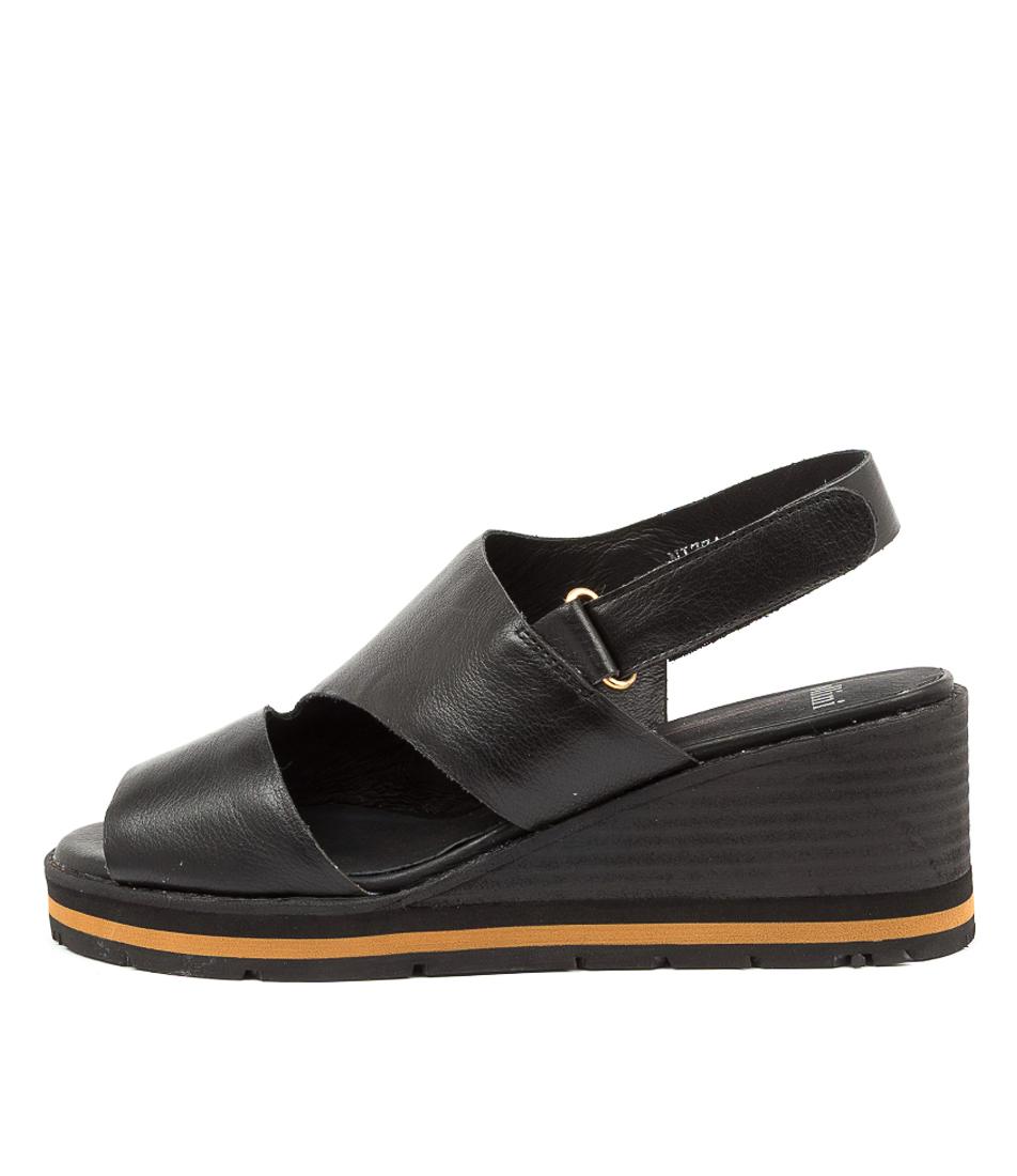 Buy Mollini Nizza Mo Black Black Heel Heeled Sandals online with free shipping