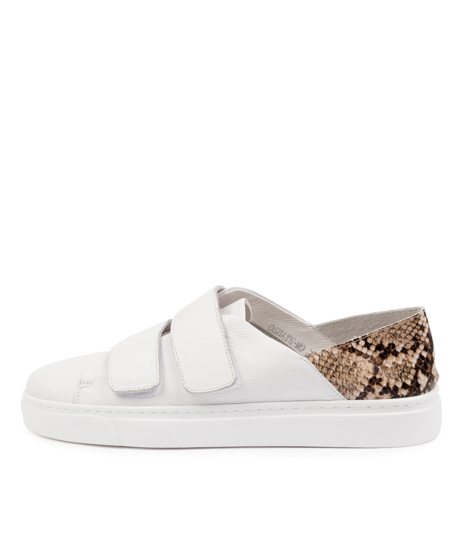 Buy Mollini Oshayn Mo White Latte Sneakers online with free shipping