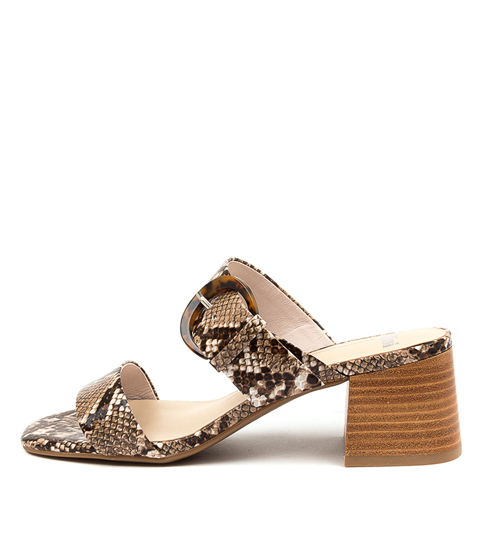Buy Mollini Piney Mo Latte Natural Heel Heeled Sandals online with free shipping