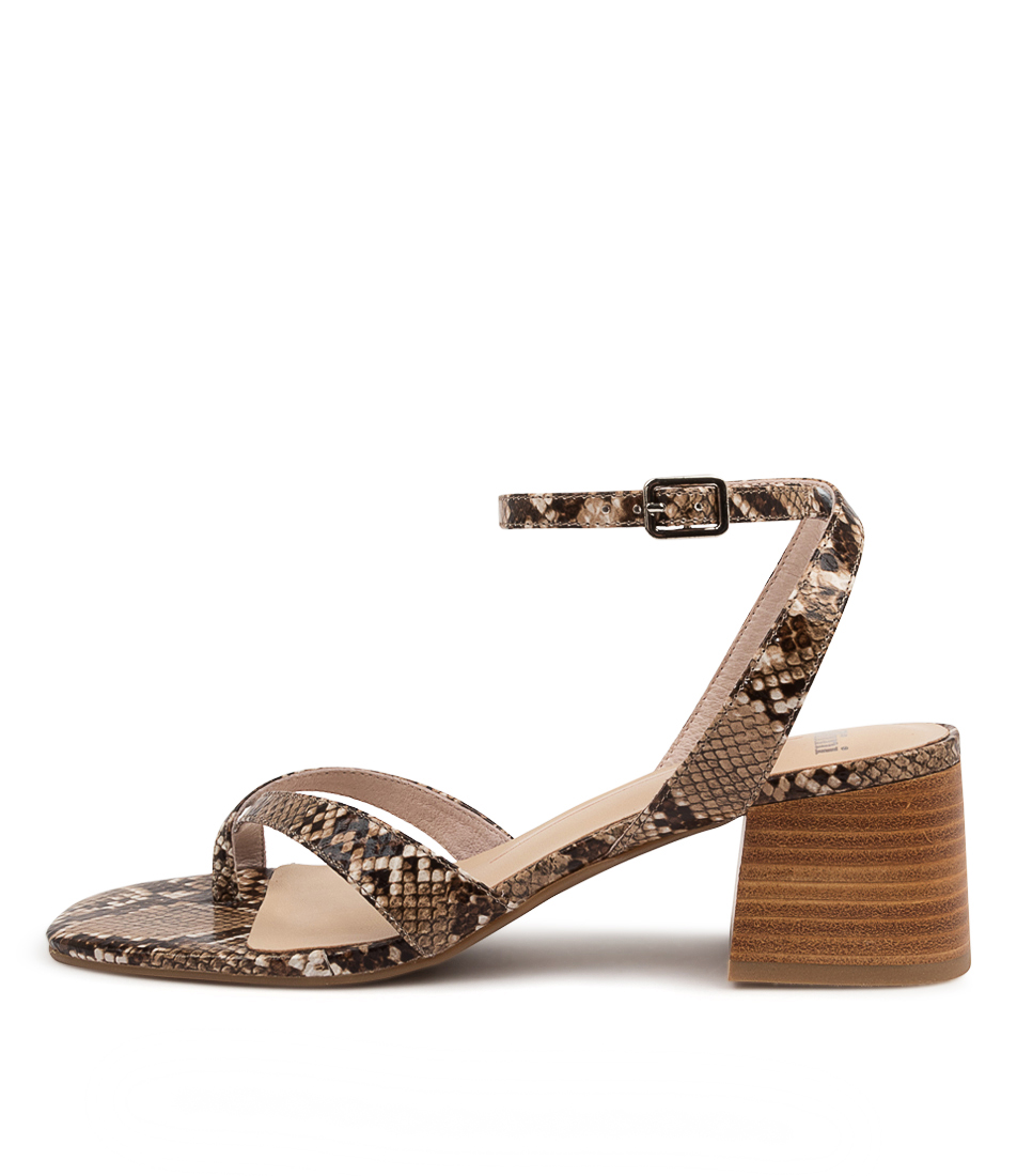 Buy Mollini Pinsta Mo Latte Natural Heel Heeled Sandals online with free shipping