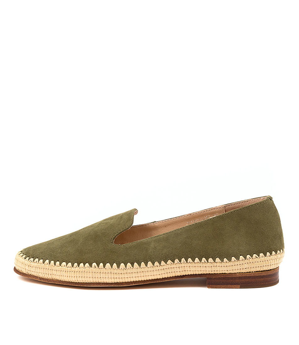 Buy Mollini Virdo Mo Khaki Natural Flats online with free shipping