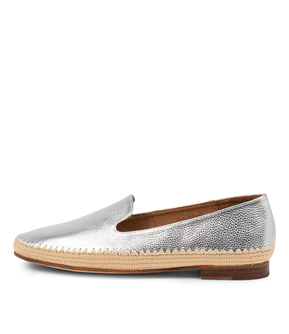Buy Mollini Virdo Mo Silver Natural Flats online with free shipping