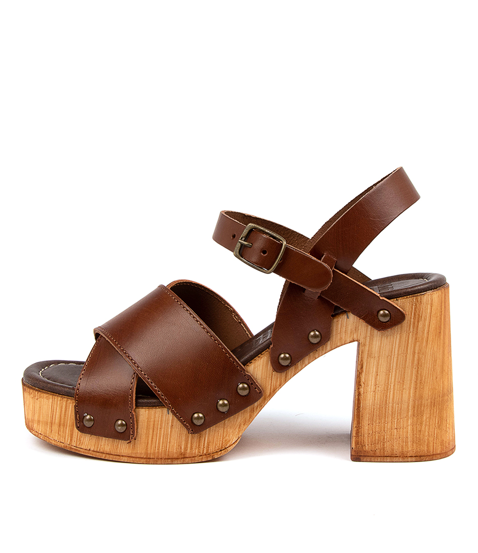 Buy Mollini Combi Mo Brown Heeled Sandals online with free shipping