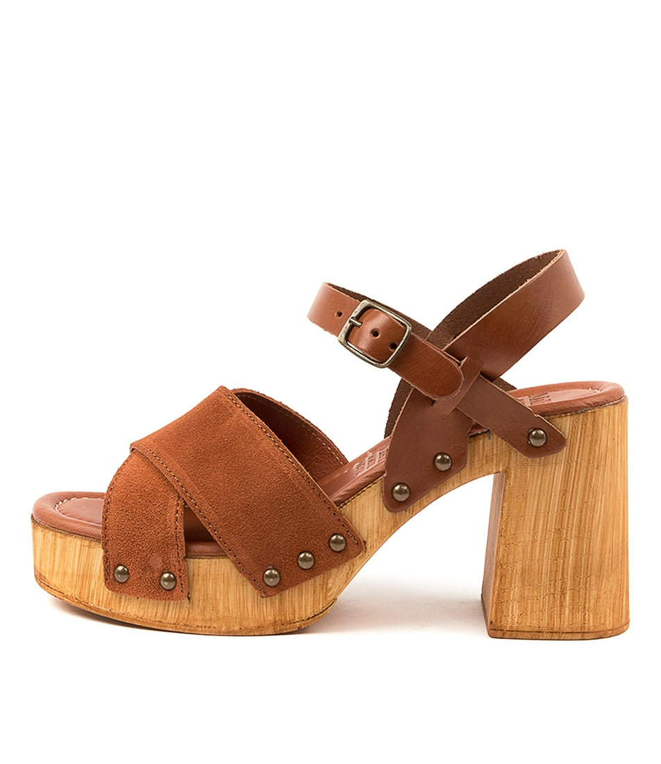 Buy Mollini Combi Mo Cognac Tan Heeled Sandals online with free shipping