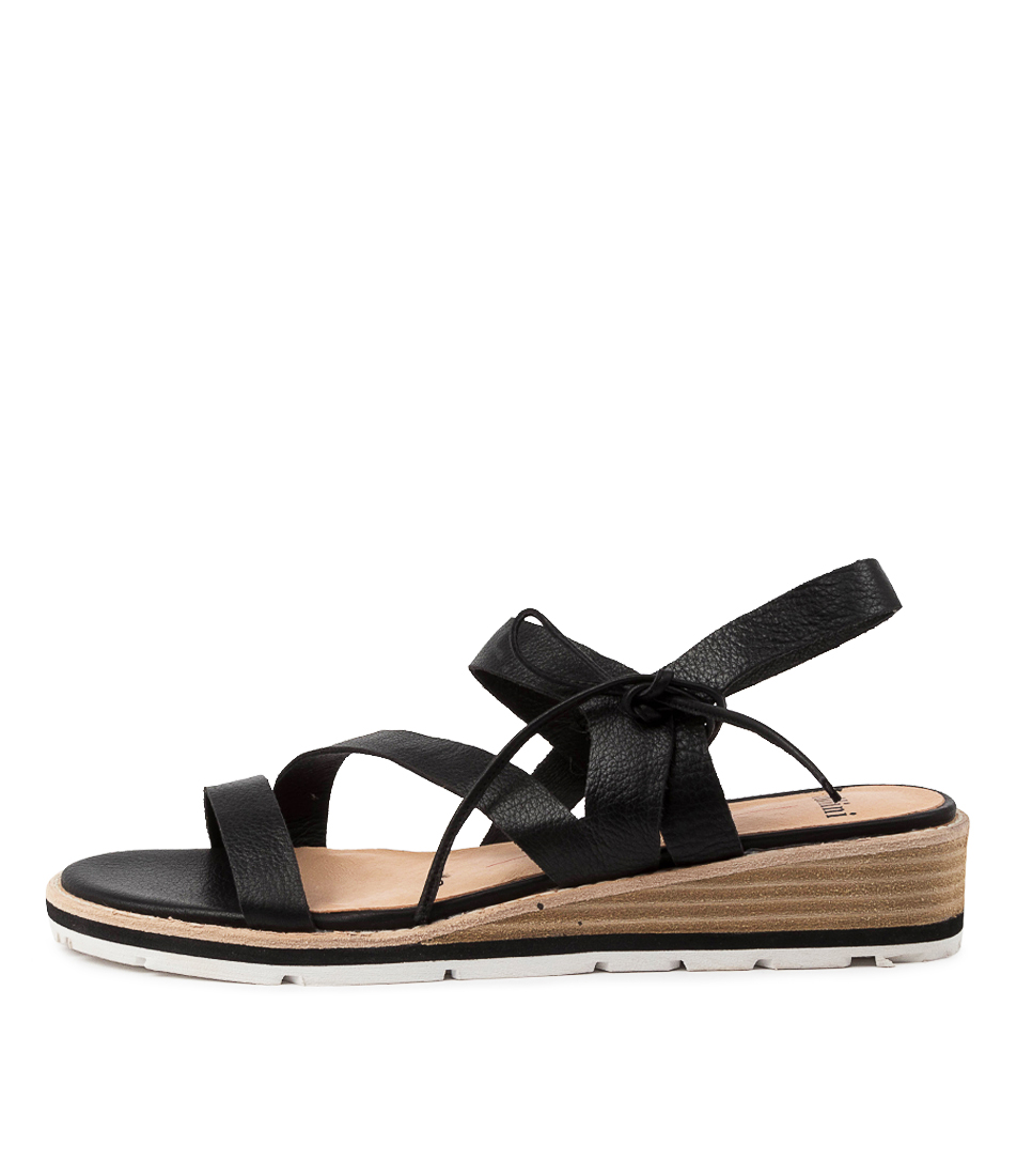 Buy Mollini Bellans Mo Black Natural Heeled Sandals online with free shipping