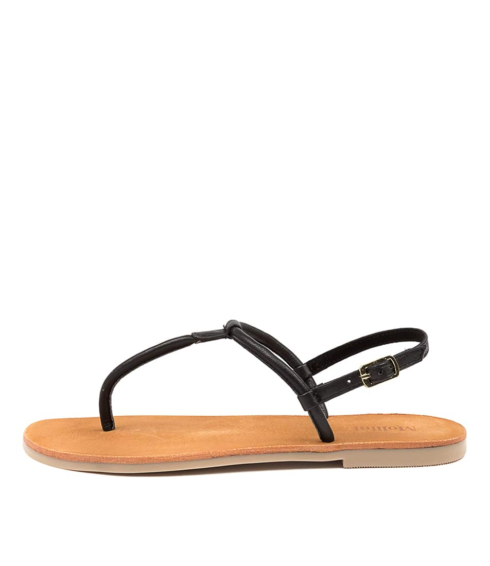 Buy Mollini Pioni Mo Black Flat Sandals online with free shipping