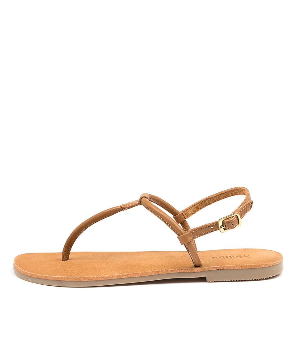Buy Mollini Pioni Mo Cognac Flat Sandals online with free shipping