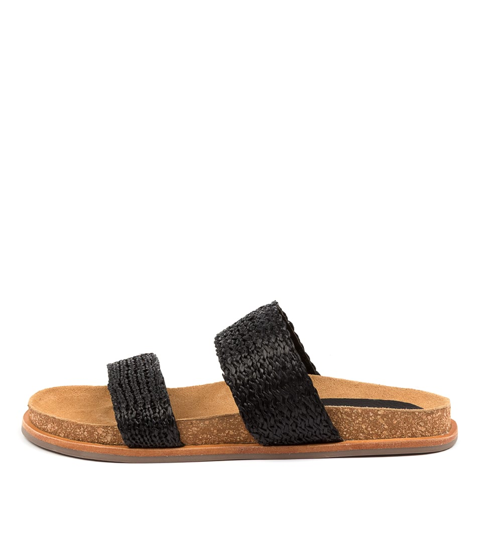 Buy Mollini Jools Mo Black Flat Sandals online with free shipping