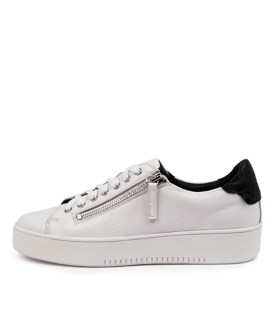 Buy Mollini Litzy Tomo White Black Sneakers online with free shipping