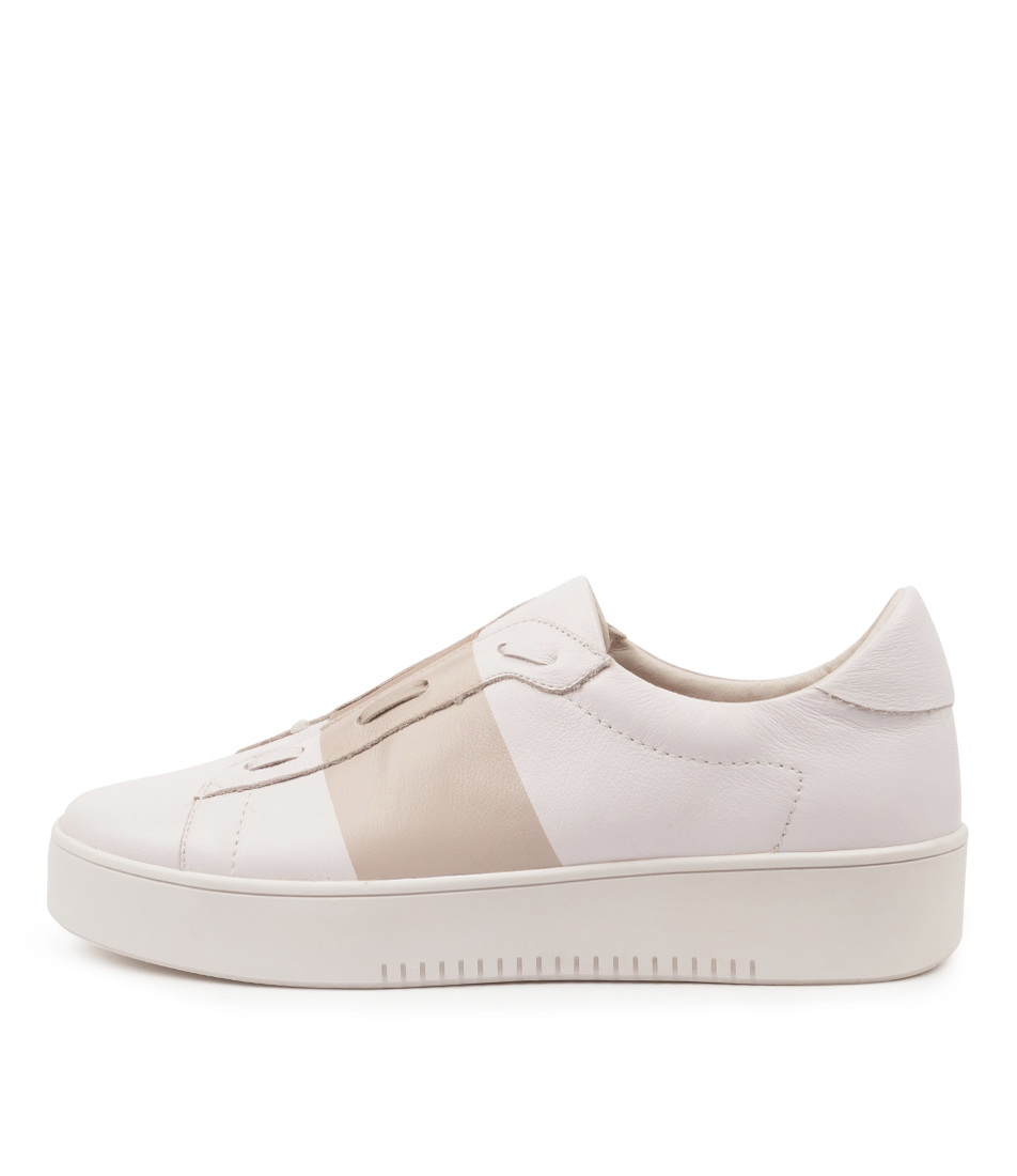 Buy Mollini Libby Tomo White Dusty Pink Sneakers online with free shipping