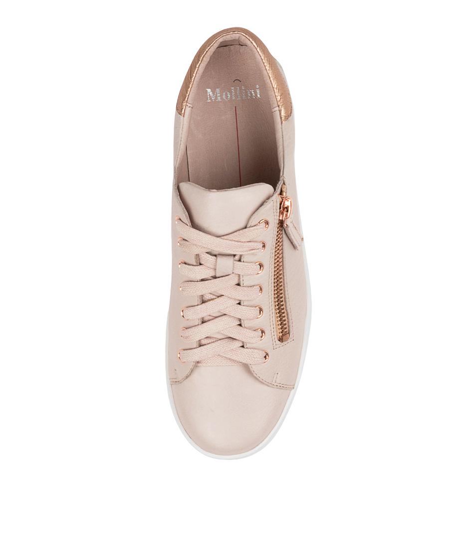 thumbnail 5 - New Mollini Lota Dk Tan Pale Gold Womens Shoes Casual Sneakers Casual