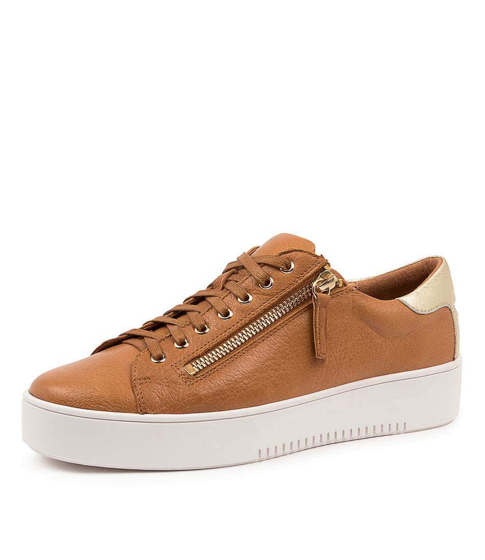 thumbnail 7 - New Mollini Lota Dk Tan Pale Gold Womens Shoes Casual Sneakers Casual