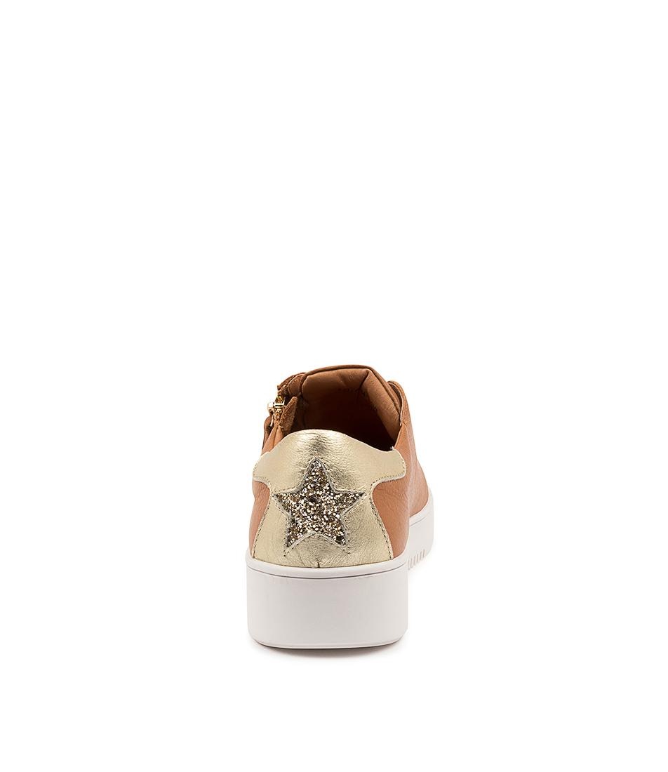 thumbnail 8 - New Mollini Lota Dk Tan Pale Gold Womens Shoes Casual Sneakers Casual