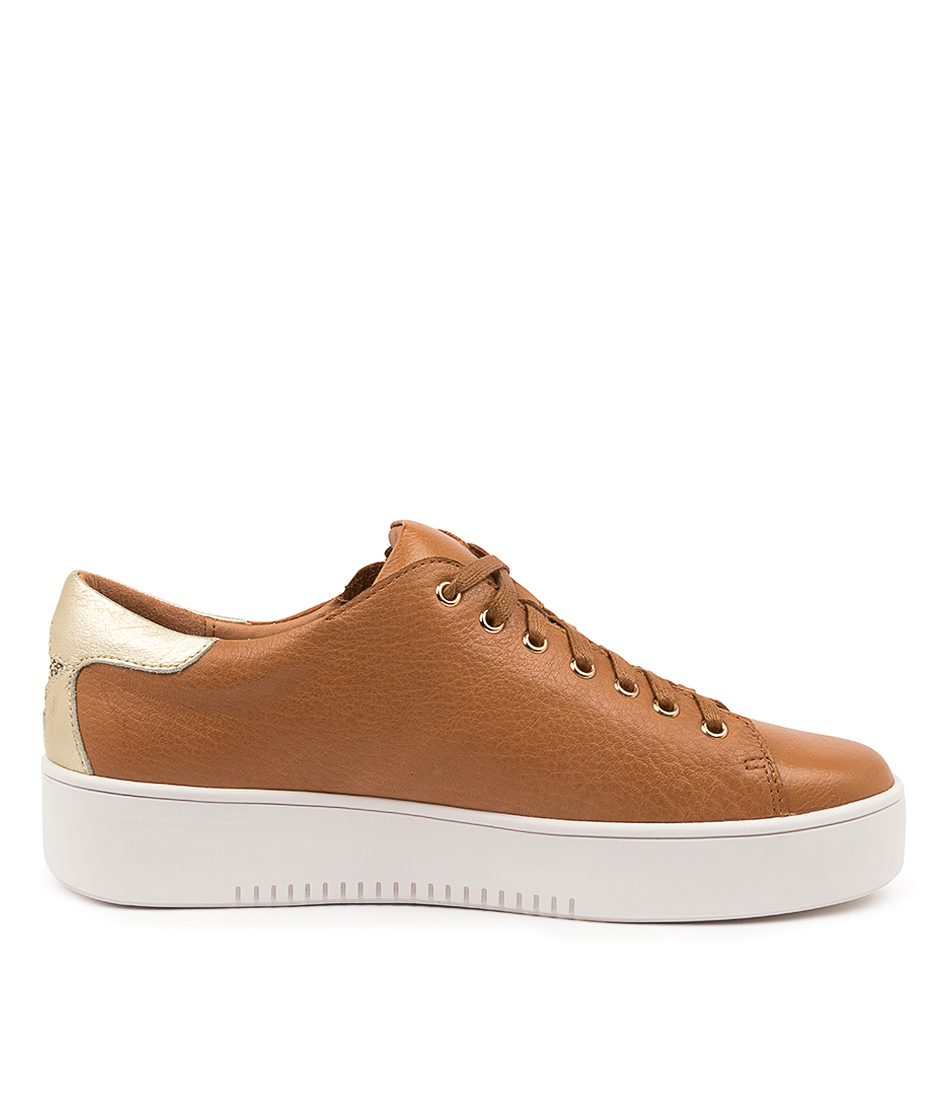 thumbnail 9 - New Mollini Lota Dk Tan Pale Gold Womens Shoes Casual Sneakers Casual