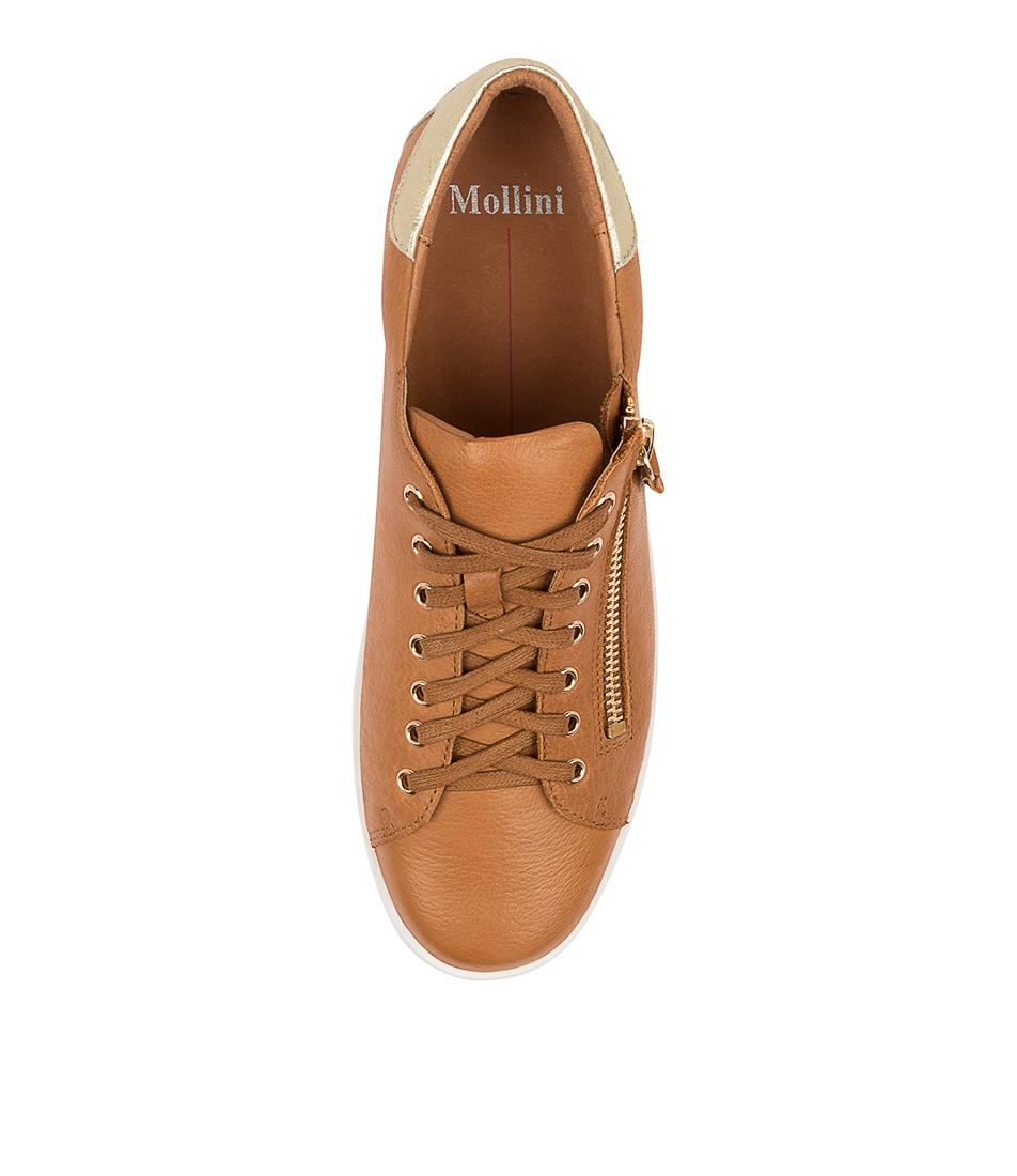 thumbnail 10 - New Mollini Lota Dk Tan Pale Gold Womens Shoes Casual Sneakers Casual