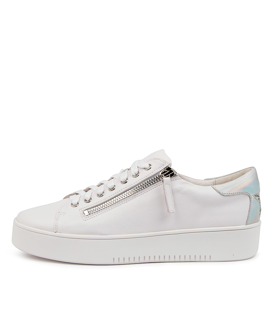 Buy Mollini Lota Tomo White Silver Sneakers online with free shipping