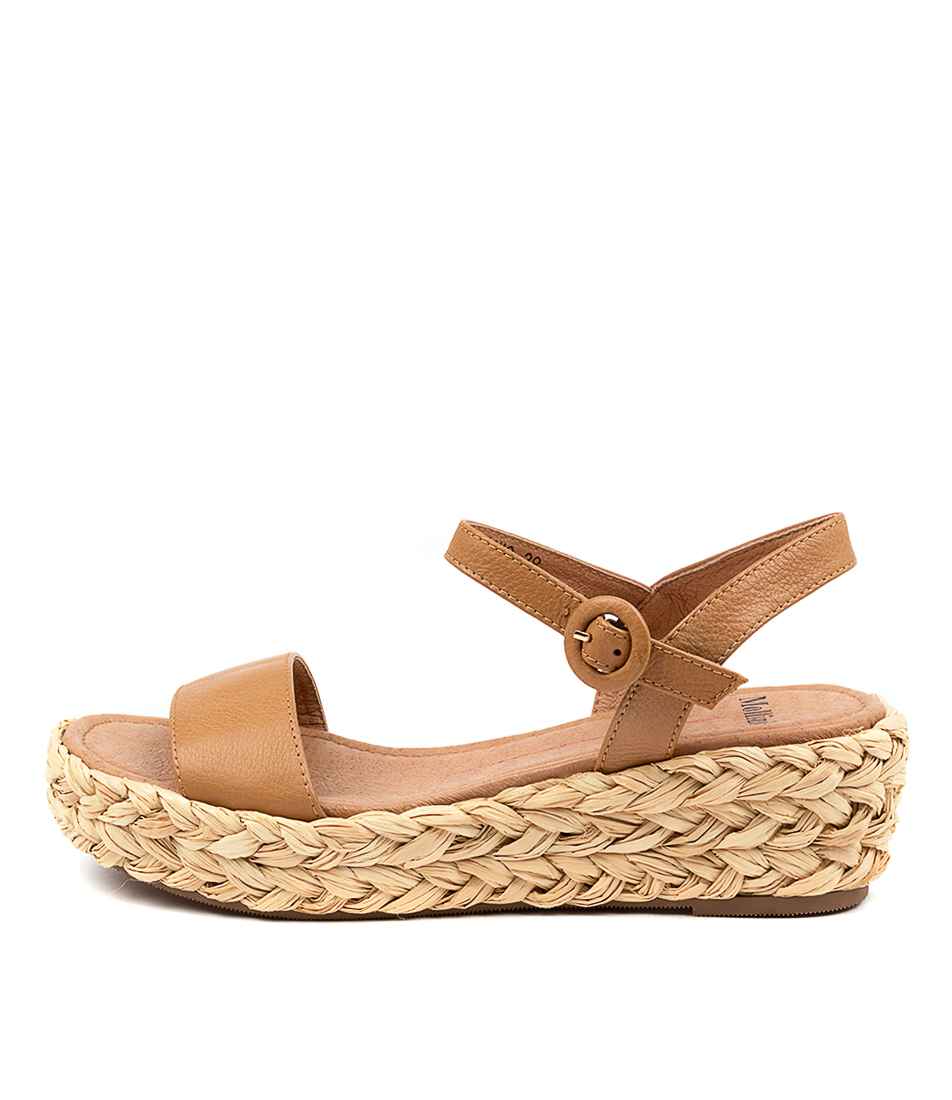Buy Mollini Lovro Tomo Dk Tan Flat Sandals online with free shipping