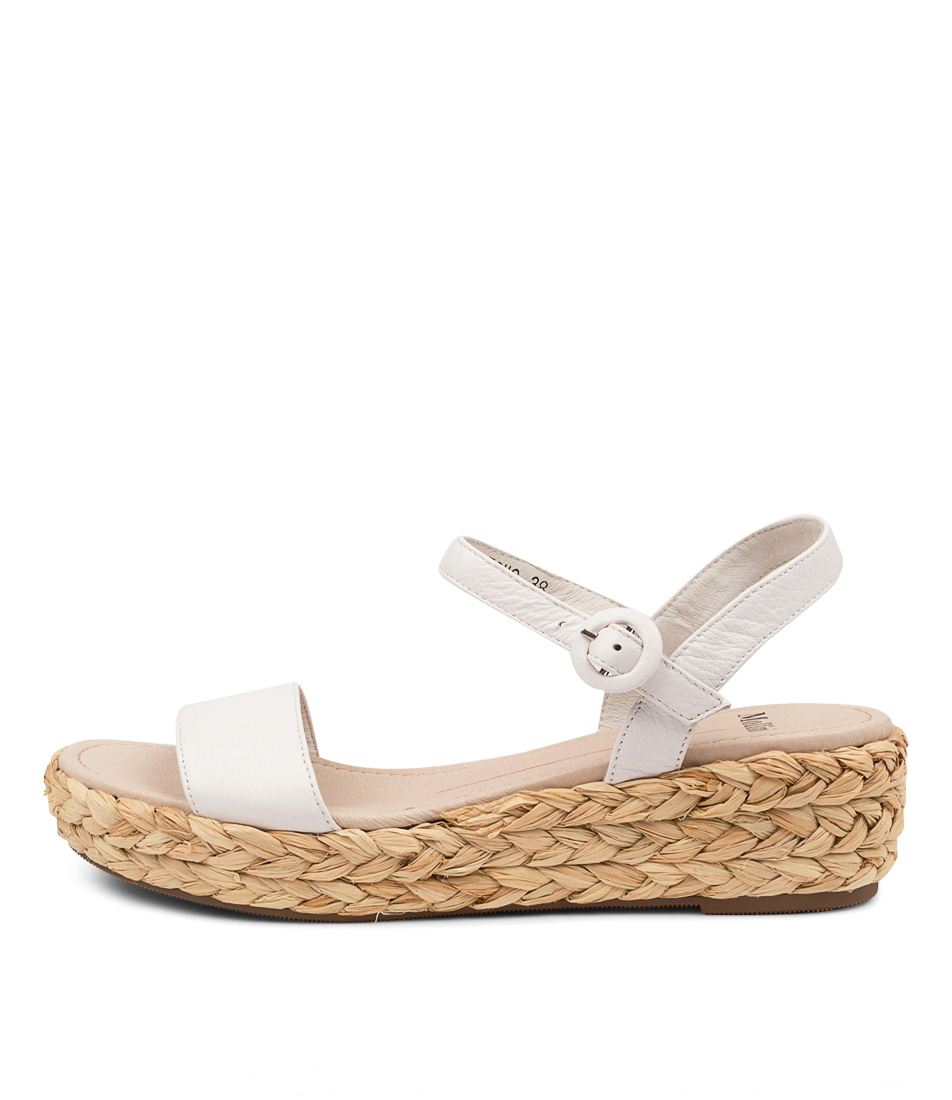 Buy Mollini Lovro Tomo White Flat Sandals online with free shipping