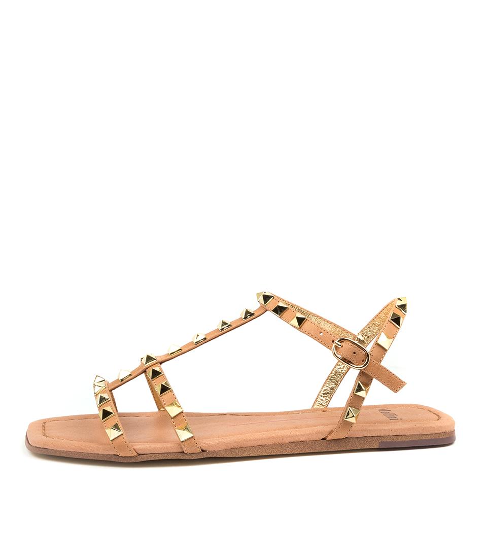 Buy Mollini Leda Tomo Tan Flat Sandals online with free shipping