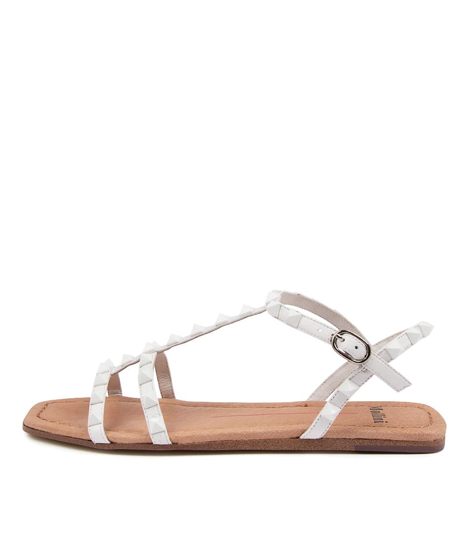 Buy Mollini Leda Tomo White White Flat Sandals online with free shipping