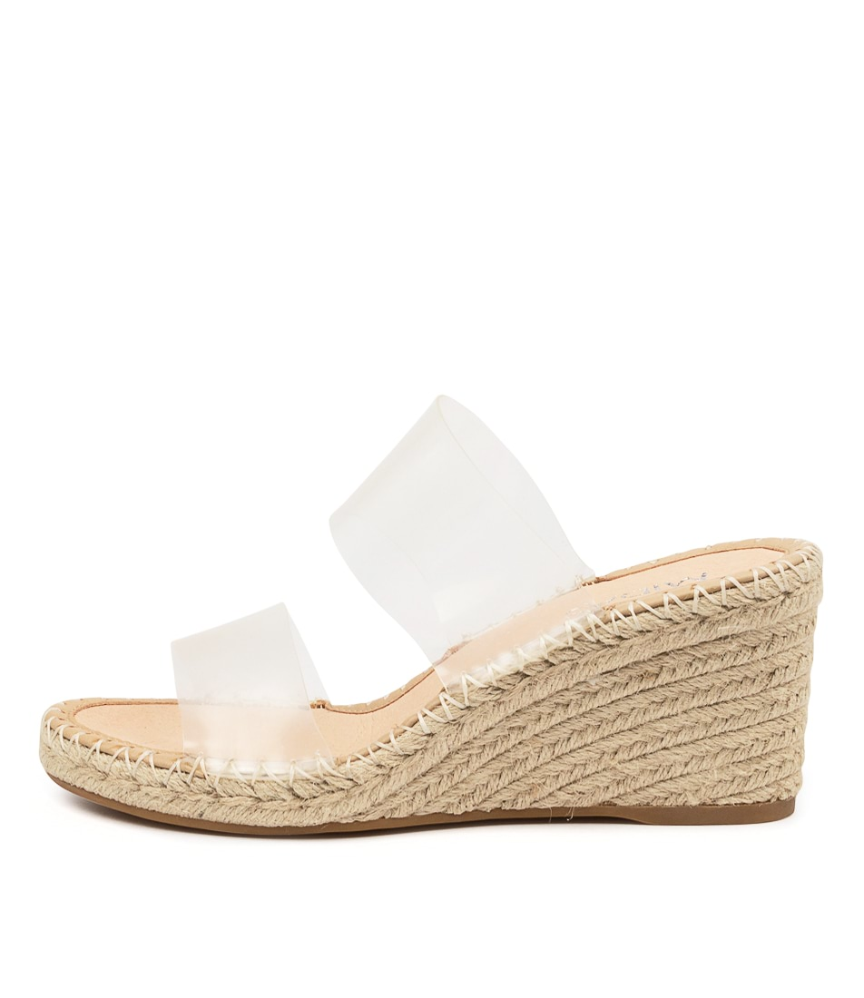 Buy Mollini Gerson Tomo Clear Natural Heeled Sandals online with free shipping
