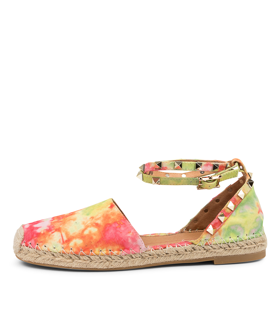 Buy Mollini Torios Tomo Bright Tie Dye Flats online with free shipping