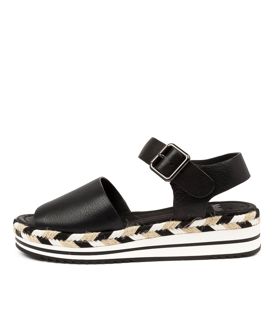 Buy Mollini Amil Djmo Black Flat Sandals online with free shipping
