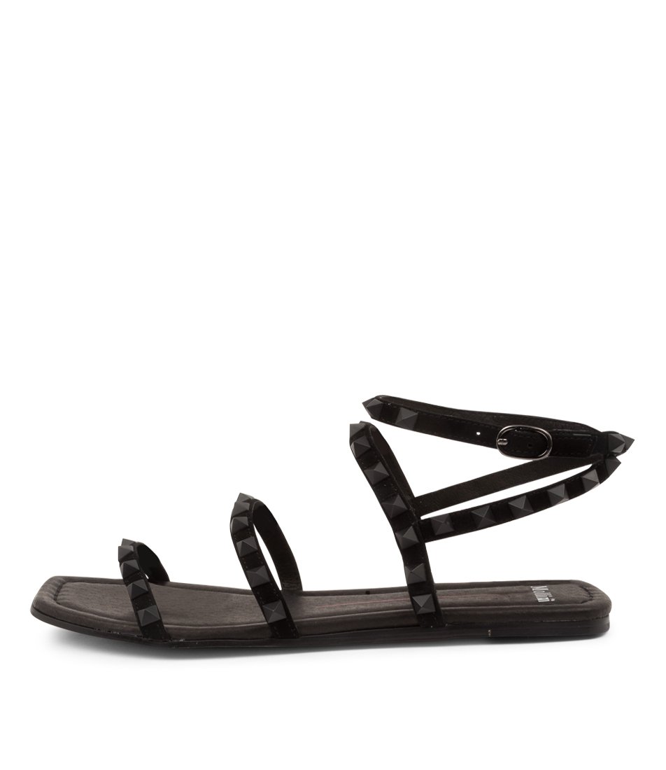 Buy Mollini Lynnox Tomo Black Black Flat Sandals online with free shipping
