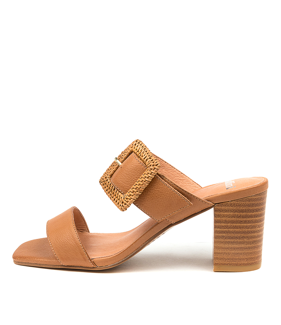 Buy Mollini Perrin Djmo Dk Tan Heeled Sandals online with free shipping