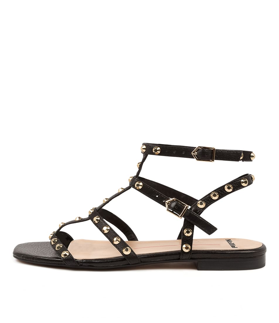 Buy Mollini Aglady Mo Black Flat Sandals online with free shipping