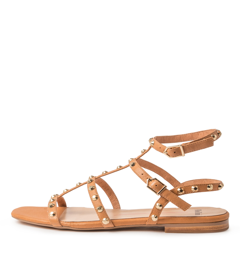 Buy Mollini Aglady Mo Dk Tan Flat Sandals online with free shipping