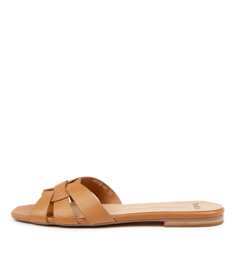Buy Mollini Amoon Mo Dk Tan Flat Sandals online with free shipping