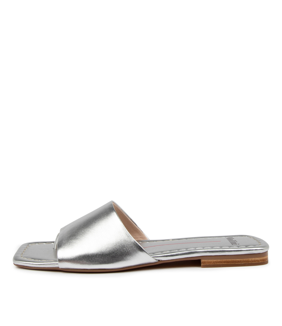 Buy Mollini Bondin Mo Silver Flat Sandals online with free shipping